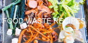 Food Waste Recipes - leftover food on baking sheet